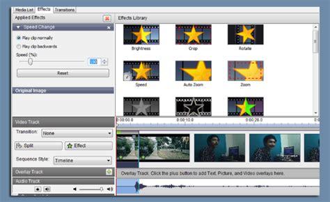 tutorial membuat video di videopad cara membuat gerakan lambat pada video menggunakan videopad