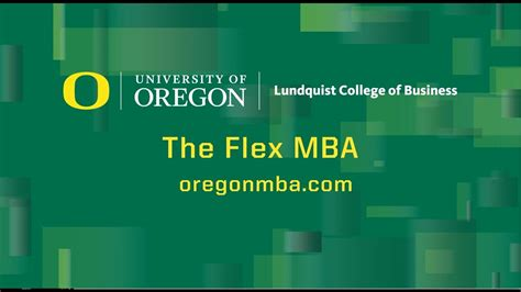 Flex Mba by The Flex Mba At The Of Oregon
