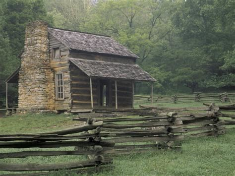 Cabins In Tennessee Mountains by Oliver Cabin In Cades Cove Great Smoky Mountains