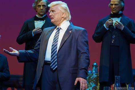 donald trump hall of presidents photos donald trump audio animatronic figure at the hall