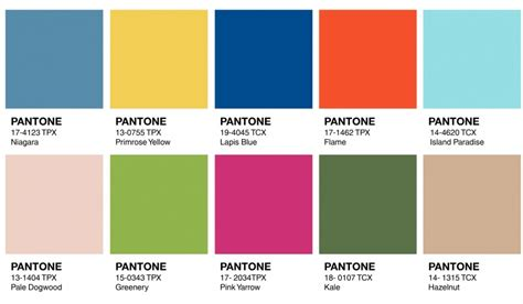 pantone color chart 2017 how to use 2017 pantone color trends in design ny now