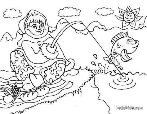 eskimo from alaska coloring pages hellokids com