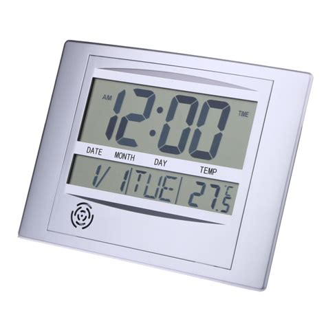 Desk Clock With Temperature by Calendar Alarm Clock With Digital Lcd Thermometer