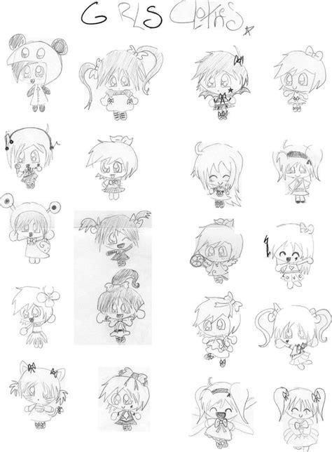 Chibi Girls Clothes By Magnumkiyoshi On Deviantart How To Draw Chibi Boy Clothes Free