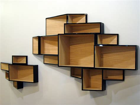 wall mounted mdf bookcase shellf by kristalia design ka