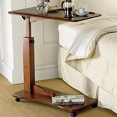 hospital bed tray tilting adjustable bedside rolling tray table adjustable
