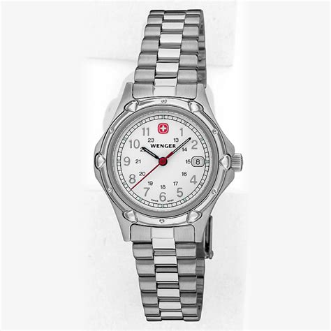 wenger swiss watches standard issue white and