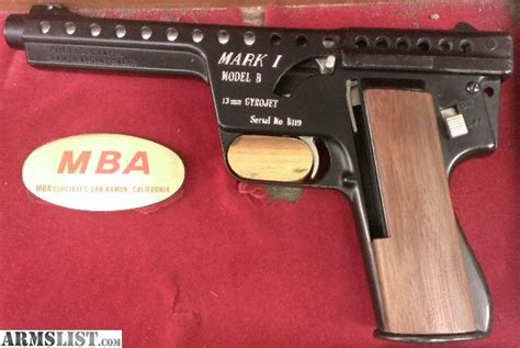Mba Gyrojet Rocket Pistol by Armslist For Sale Mba Gyrojet I Model B 13mm