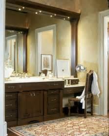 Double Bathroom Vanity With Makeup Area » Home Design 2017