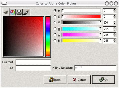 alpha color transparency in gimp