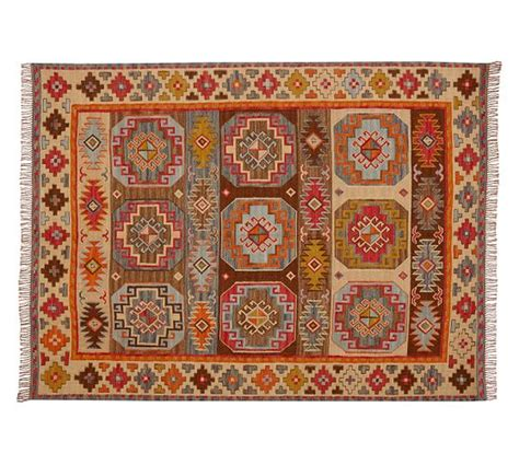 Kilim Kitchen Rug Wool Cotton Kilim Rug 2x3 Multicolor Pottery Barn
