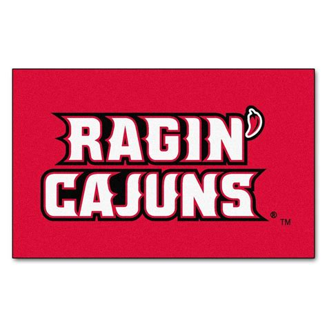 fanmats louisiana at lafayette 5 ft x 8 ft ulti mat 3077