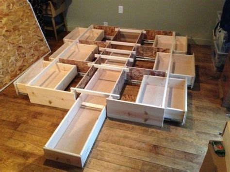 diy storage bed ideas  small places