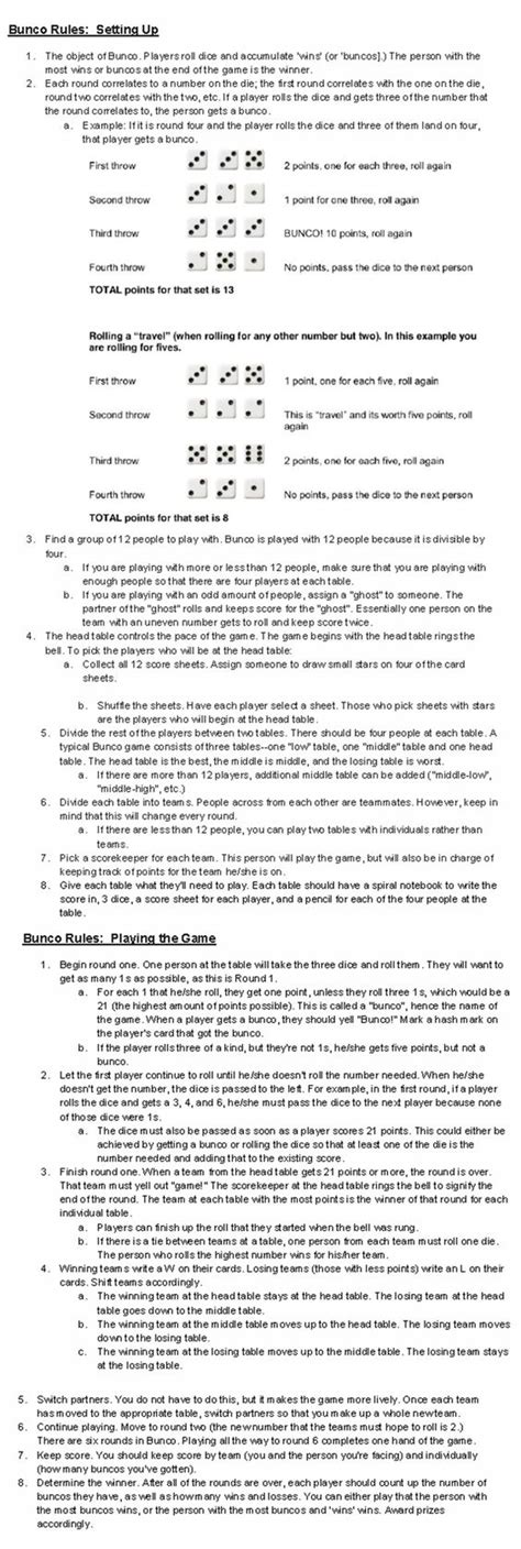 printable euchre instructions perfect explanation for bunco games pinterest plays