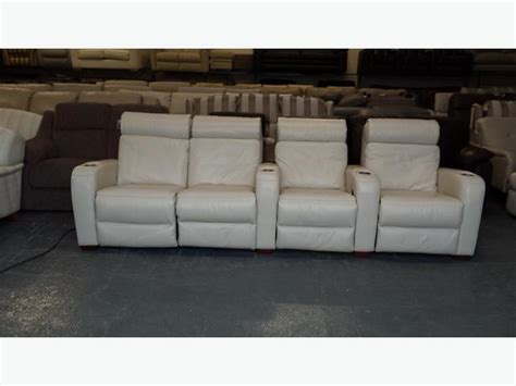 Ex Display Leather Sofas Ex Display Frontrow Leather 4 Seater Electric Recliner Cinema Sofa Outside Birmingham