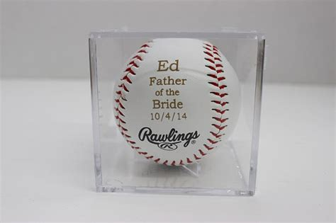 laser engraved baseball case personalized gift