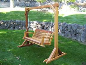 Patio Swing With Frame Basic Frame Wood Country