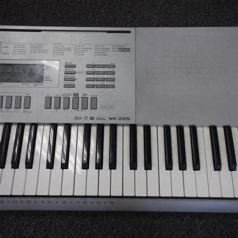Keyboard Casio Wk 225 used casio wk 225 electronic keyboard 76 key with power supply keyboards go