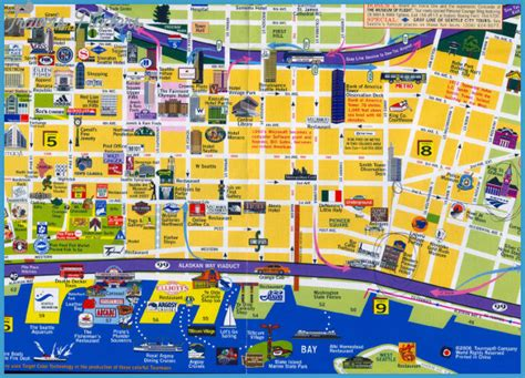 seattle map with attractions maps update 700698 seattle tourist map 11 toprated