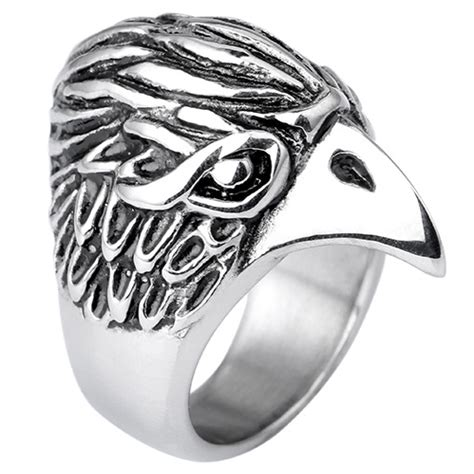 Rantai Dompet Titanium Stainlessteel Exlusive new exclusive eagle rings personalitized stainless steel rings vintage animal ring