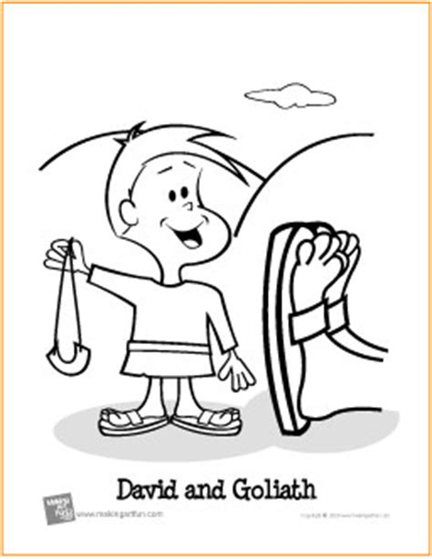 david and goliath coloring pages for toddlers david and goliath free printable coloring page