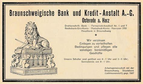 deutsche bank osterode osteroder reklame braunschweigische bank und