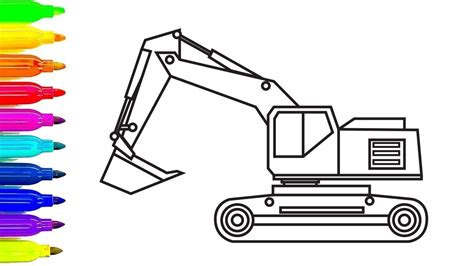 excavator truck coloring page construction truck coloring pages excavator for kids