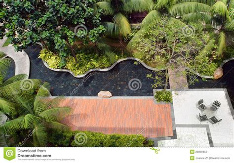 Landscaping Design, Garden & Pool Stock Photography