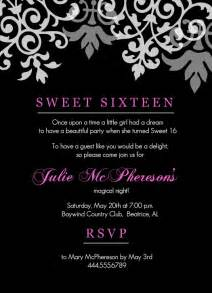 sweet 16 invitation template sweet 16th birthday invitations templates free printable