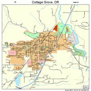 cottage grove oregon map 4115950