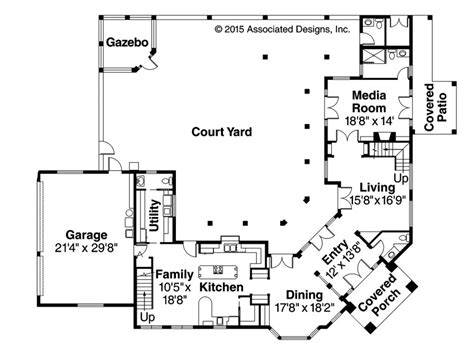 spanish style house plans with courtyard elegant spanish style house plans with interior courtyard ff luxamcc