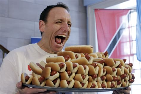 contest record joey chestnut ate an absurd number of calories from his record breaking 72 dogs
