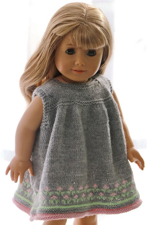 18 inch doll clothes knitting patterns free 18 inch doll dress knitting pattern