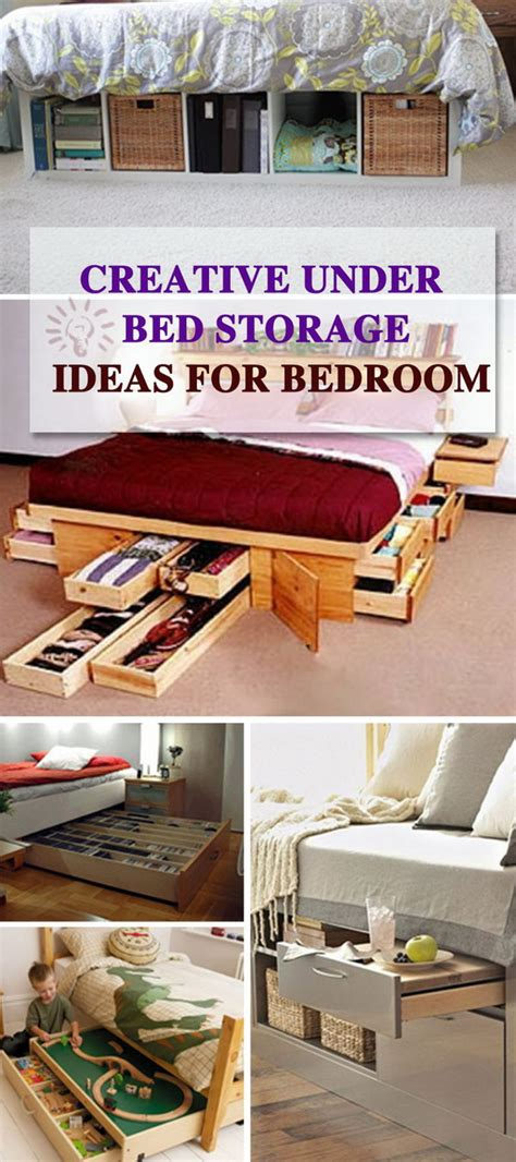 creative  bed storage ideas  bedroom hative