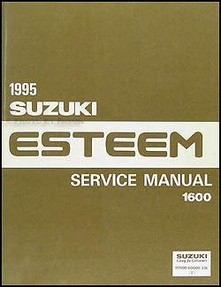 1995 suzuki esteem 1600 repair shop manual original