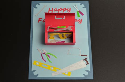 make a fathers day card toolbox pop up card template