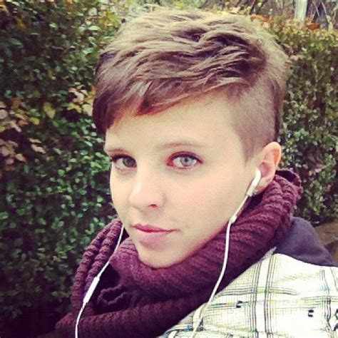 how to cut one side shorter and the other longer haircuts pixie cut with shaved sides mohawk