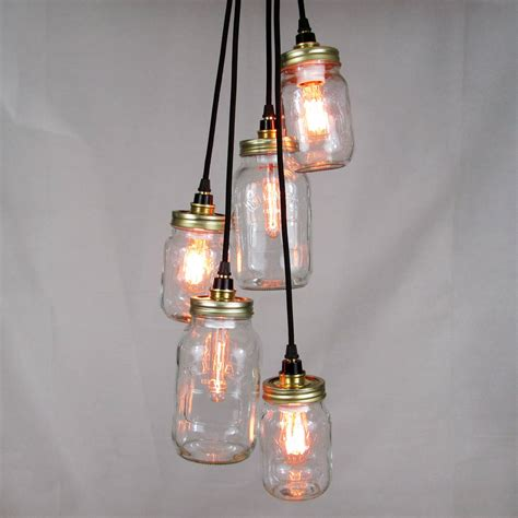 Cluster Pendant Light Kilner Jar Cluster Pendant Five Way By Unique S Co Notonthehighstreet