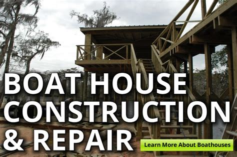 boat house construction gills crane services docks bulkheads boat houses slidell