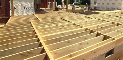 Distance Between Floors In A Building - floor joist spans for home building projects today s