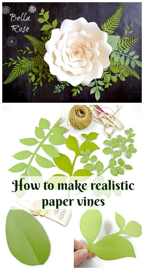 How To Make Realistic Paper Flowers - 25 best ideas about paper leaves on felt