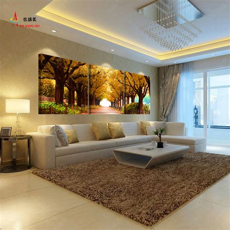 home decoration picture 3pcs tree pictures home decoration wall paintings for bedroom living room art cheap large canvas