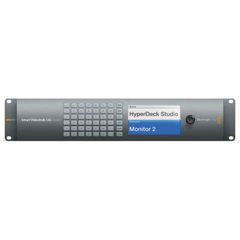 blackmagic design smart videohub 40 x 40 12g sdi