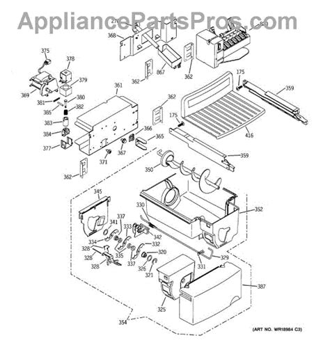 ge refrigerator maker parts diagram parts for ge zfsb26dnass maker dispenser parts