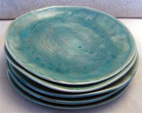 Handcrafted Pottery Dinnerware - handmade ceramic plates dinnerware wedding gifts set of 6