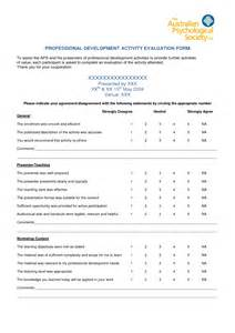 professional development evaluation form template best photos of for workshop evaluation template workshop