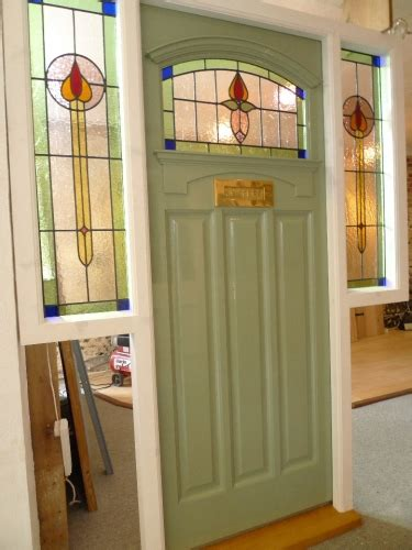The Stained Glass Door Company 1930 S Stained Glass Front Door Complete With Frame Stained Glass Doors Company