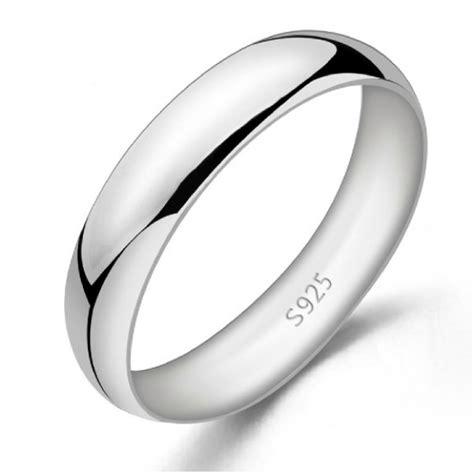 simple  elegant  sterling silver menwomens promise