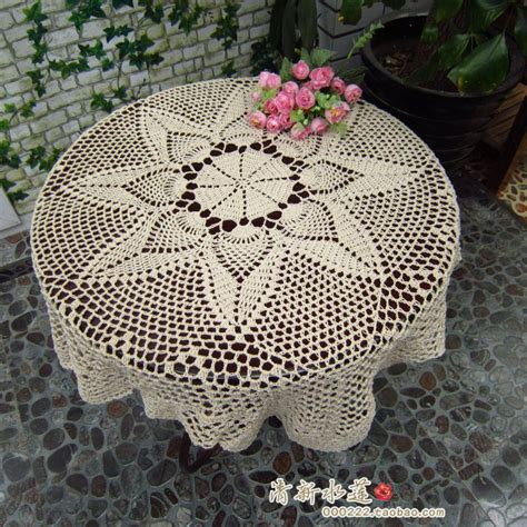 2014 new fashion cotton crochet lace tablecloth table