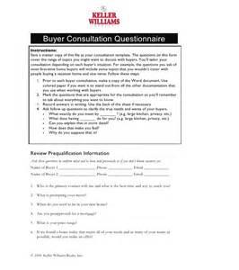 buyer consultation questionnaire